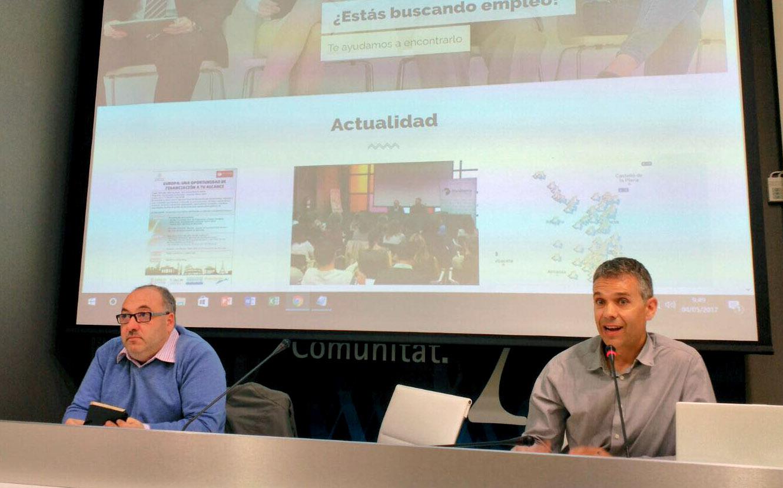 Josep Melero, director àrea Promoció Econòmica i M. Angel Ferri, director àrea Estudis i Planificació Estratègica.