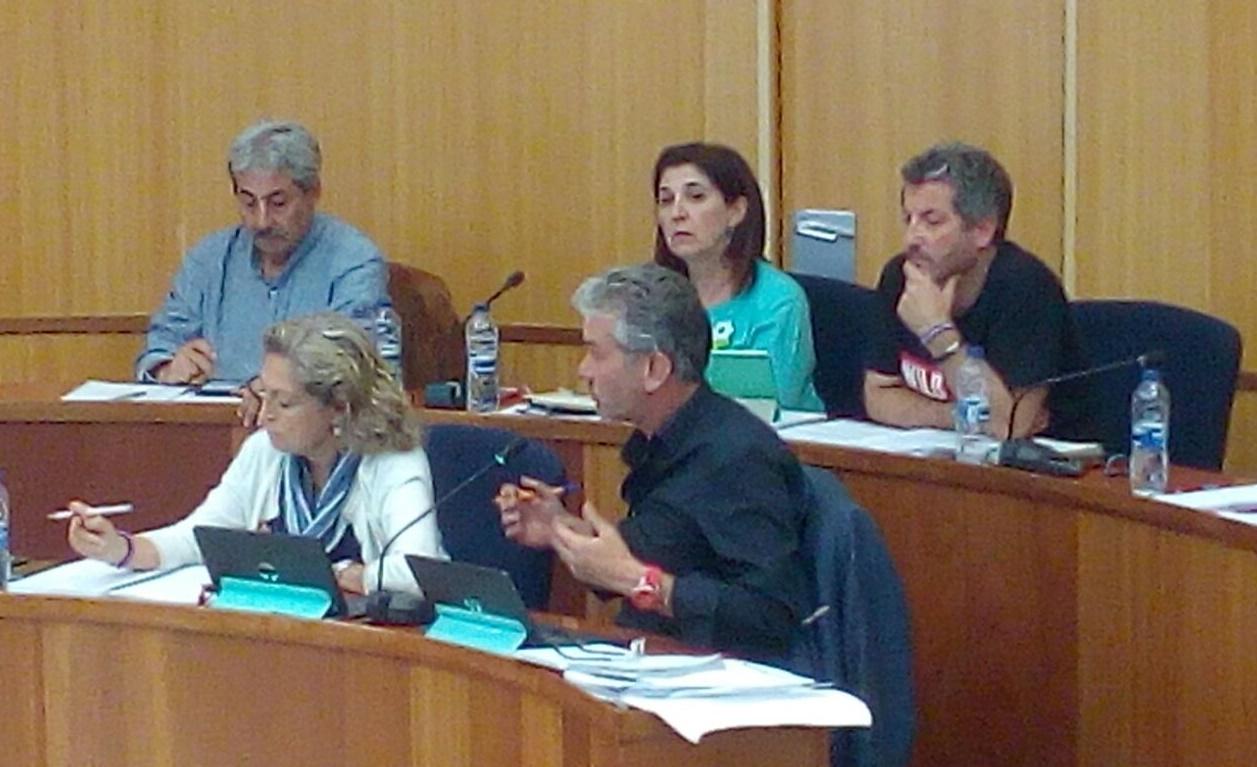 Concejales de la formación Plataforma GuanyemSAB-Compromís de San Antonio de Benagéber.