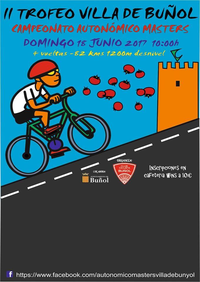 Cartel del segundo trofeo Villa de Buñol de ciclismo.