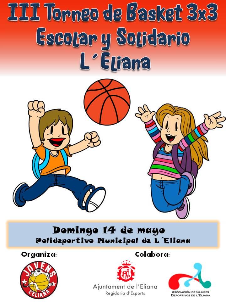 Cartel del torneo de basket en L'Eliana.