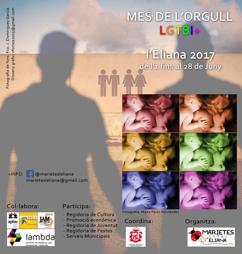 Cartel de la semana LGTB prevista en L'Eliana.