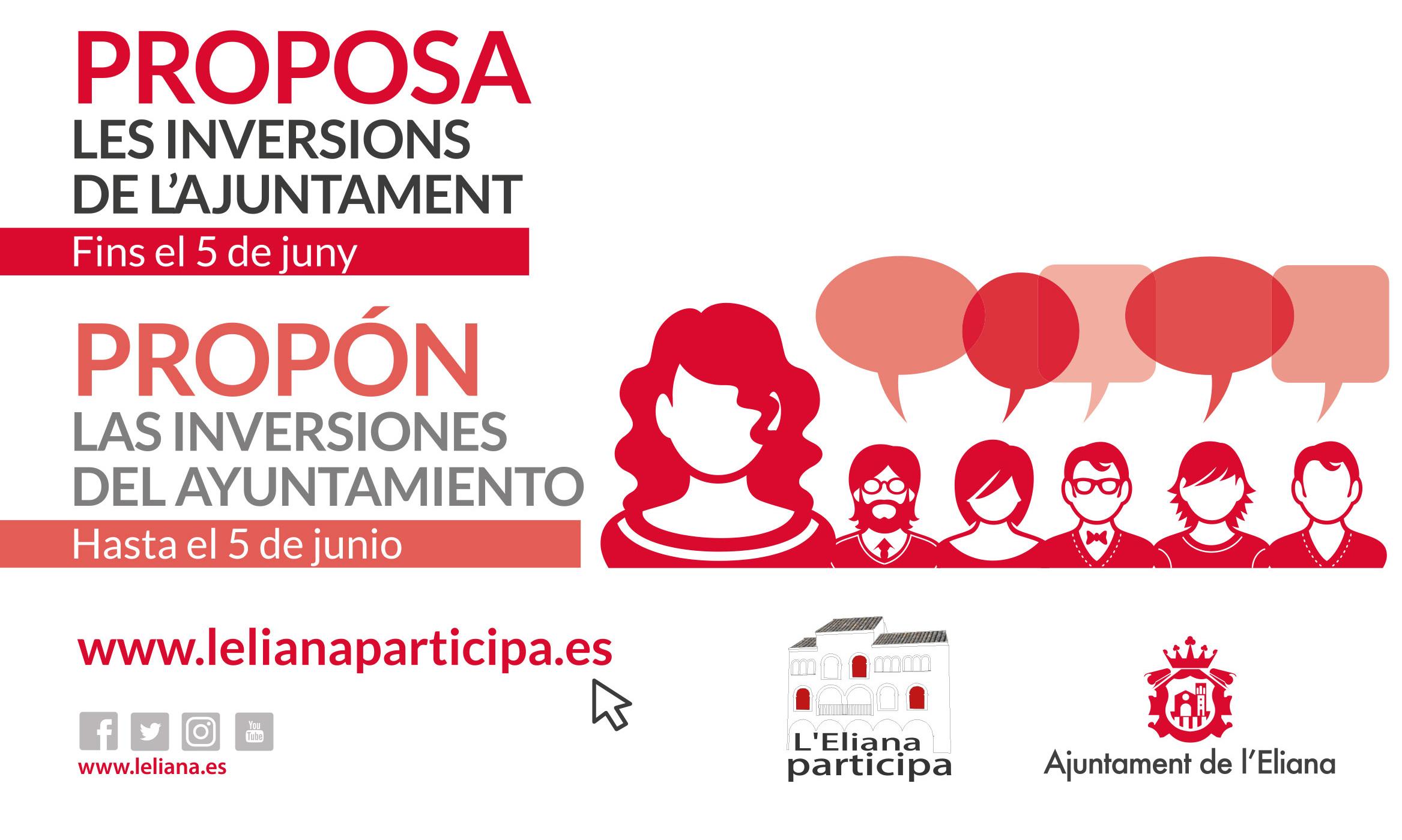 Cartel de los 'Presupuestos Participativos' en L'Eliana.