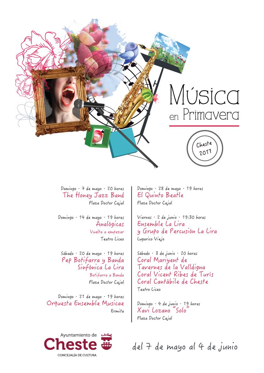 Cartel del ciclo Música en Primavera de Cheste.