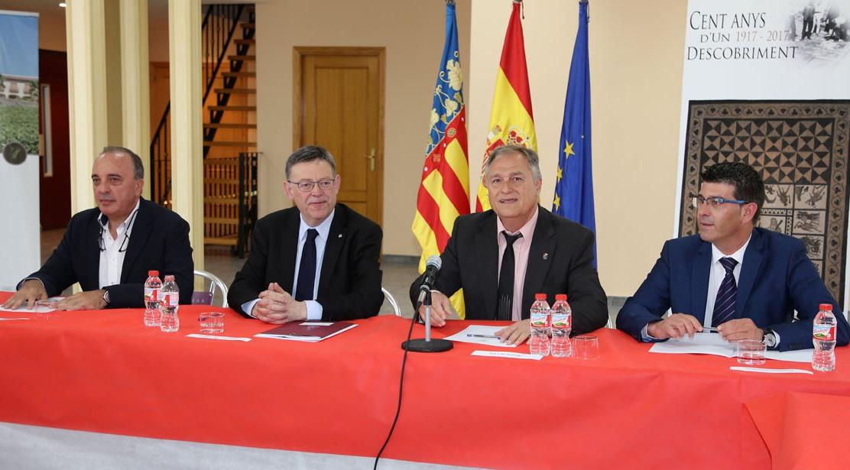Ximo Puig ha mantenido una reunión con empresarios del polígono industrial de Llíria.