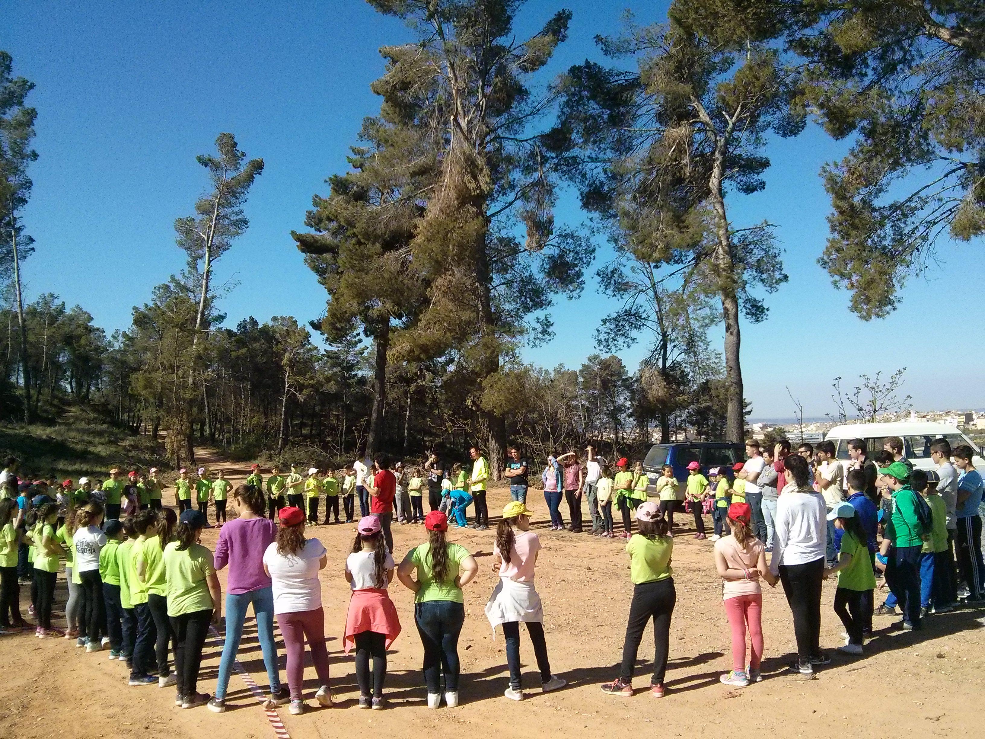 Finalmente fueron 90 niños de 8 y 9 años, acompañados de 25 alumnos de la Escuela de Viticultura, quienes disfrutaron de una soleada mañana.
