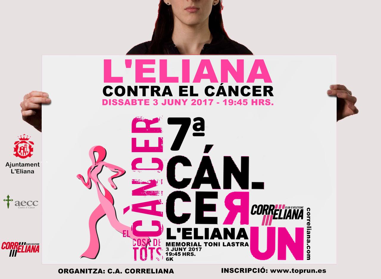 Cartel de la carrera solidaria que acoge L'Eliana.