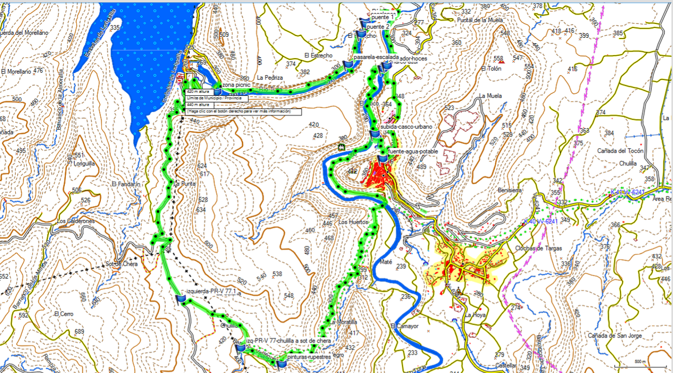 Gráfico de la ruta del Grupo GEMA por La Serranía.