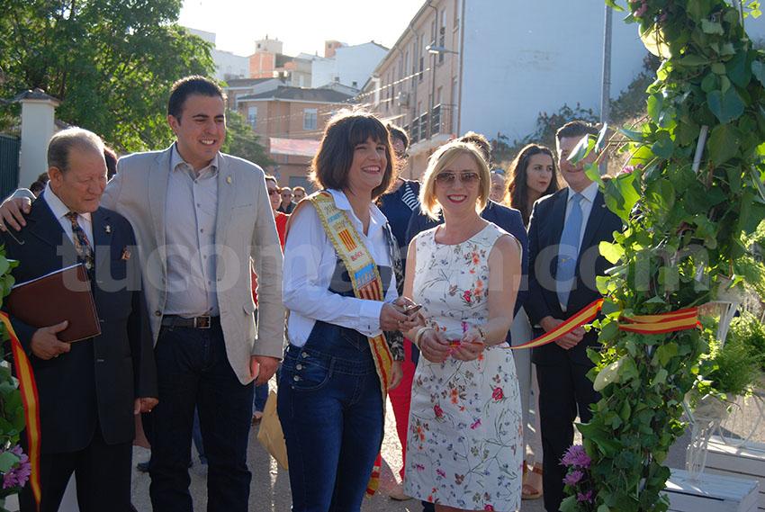 Momento de la inauguración oficial de la Feria de Comercio de Buñol 2017.