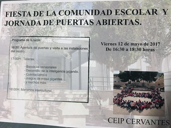Fiesta de la Comunidad Escolar y lll Jornadas de puertas abiertas.