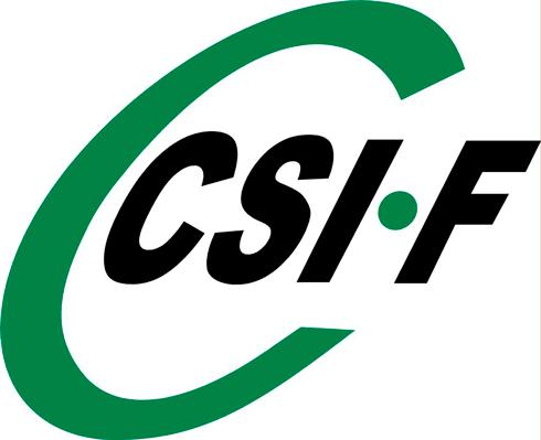 Logotipo del sindicato CSI-F.