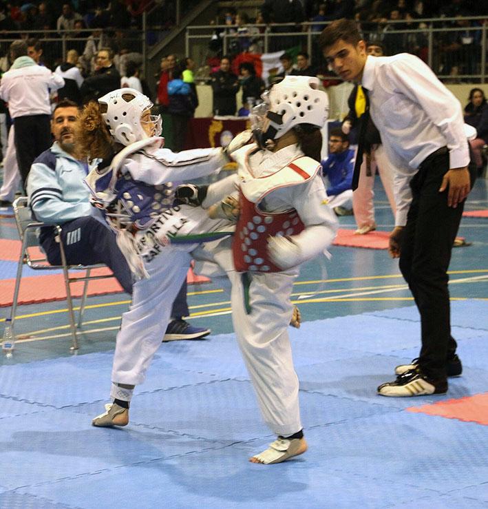La buñolense Daniela Furriol en un momento de combate.