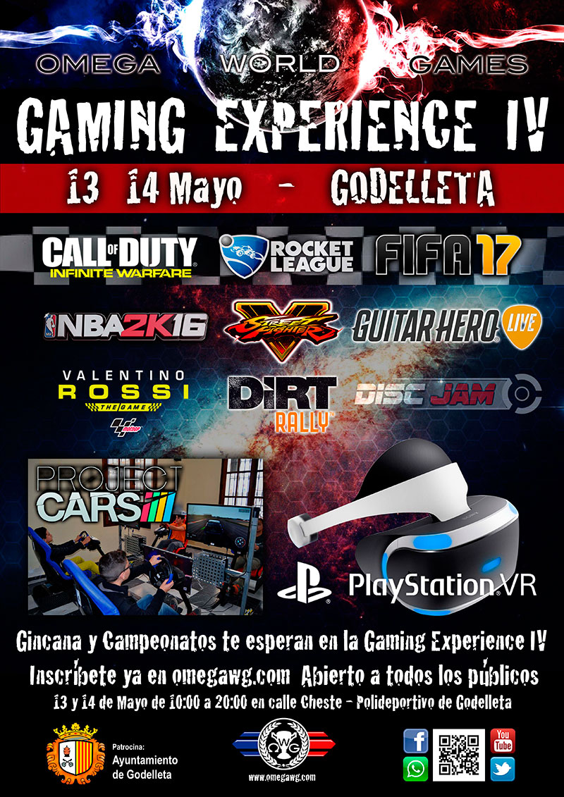 Cartel de la Gaming Experience de Godelleta.