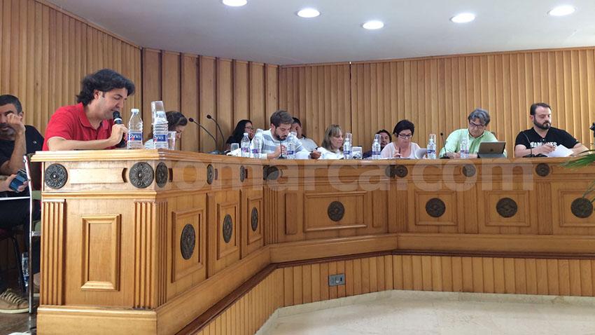 Sesión plenaria del Ayuntamiento de Buñol realizada este lunes por la tarde.