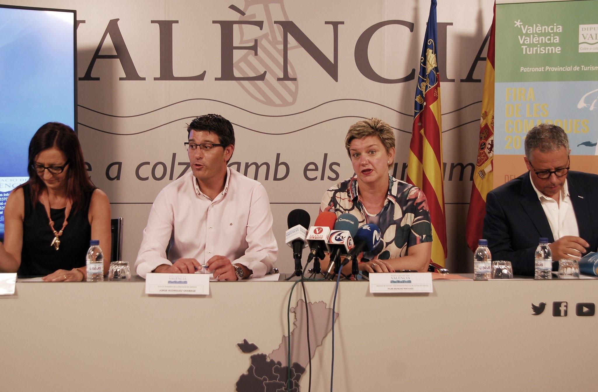El verano llega este año a València con la Fira de les Comarques del Patronat de Turisme de València, que este martes ha sido presentada en rueda de prensa en la Diputación de Valencia.