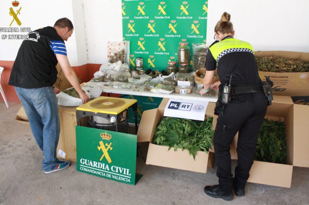Incautaciones de estupefacientes realizadas por los agentes de la Guardia Civil.