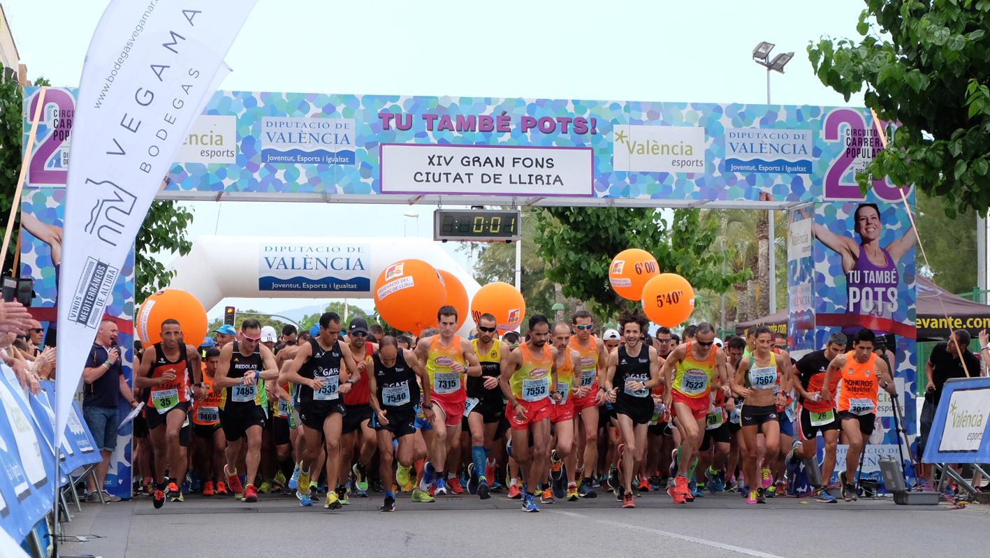 Un total de 772 corredores finalizan la prueba con un 20'3% de participación femenina.