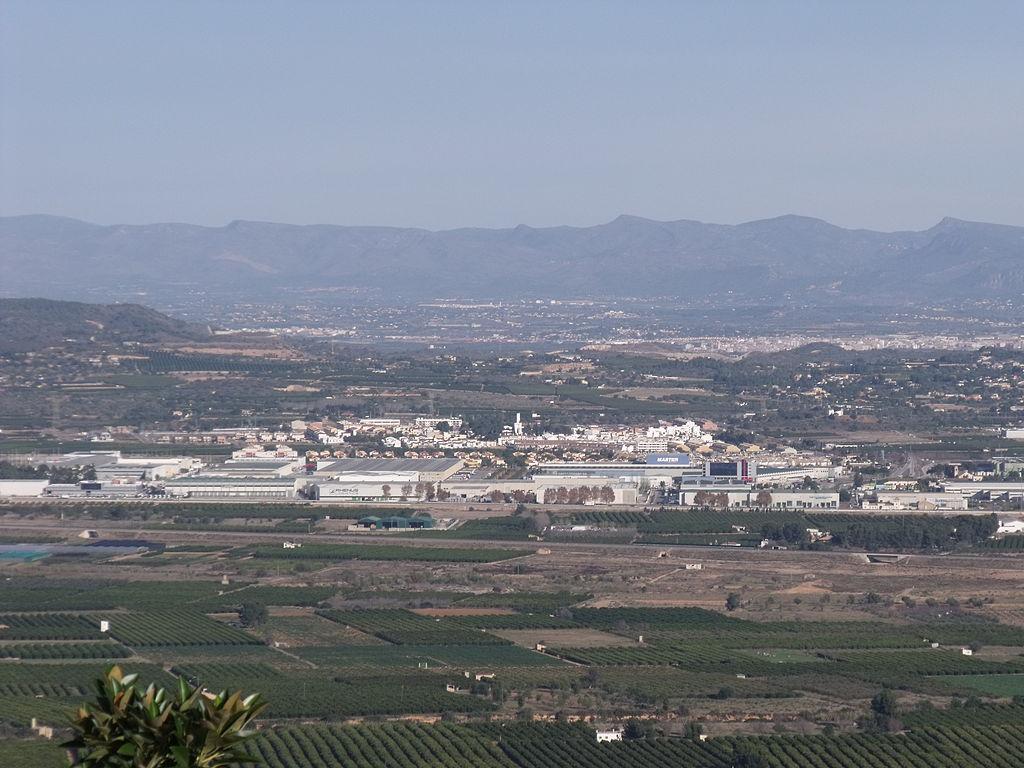 Una imagen panorámica del pueblo de Loriguilla.