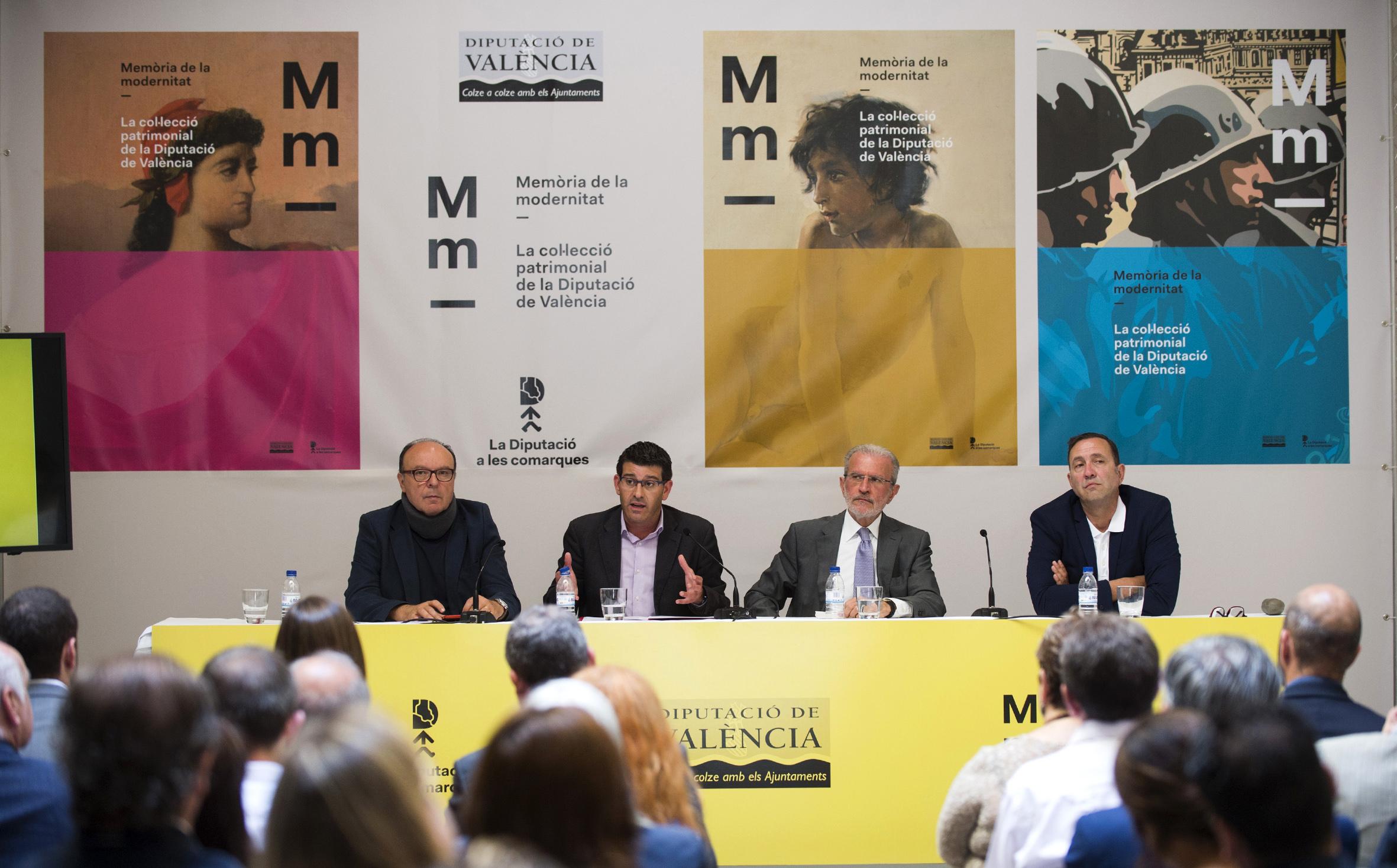 Presentación de la exposición 'Memoria de la modernidad' de la Diputación de Valencia.