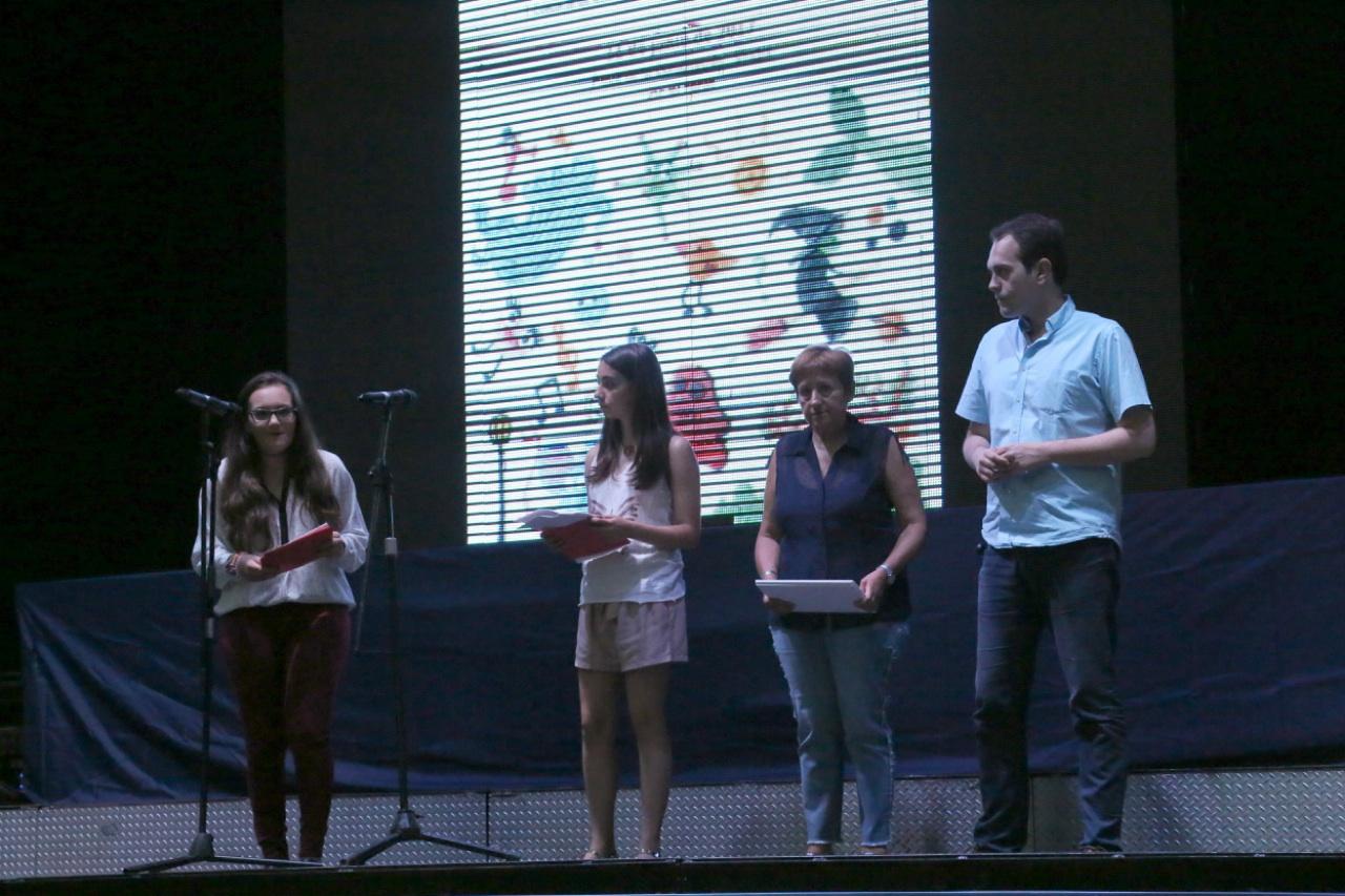 Para homenajear a los premiados se proyectó una selección de diez cortometrajes en la Avenida de Castilla.
