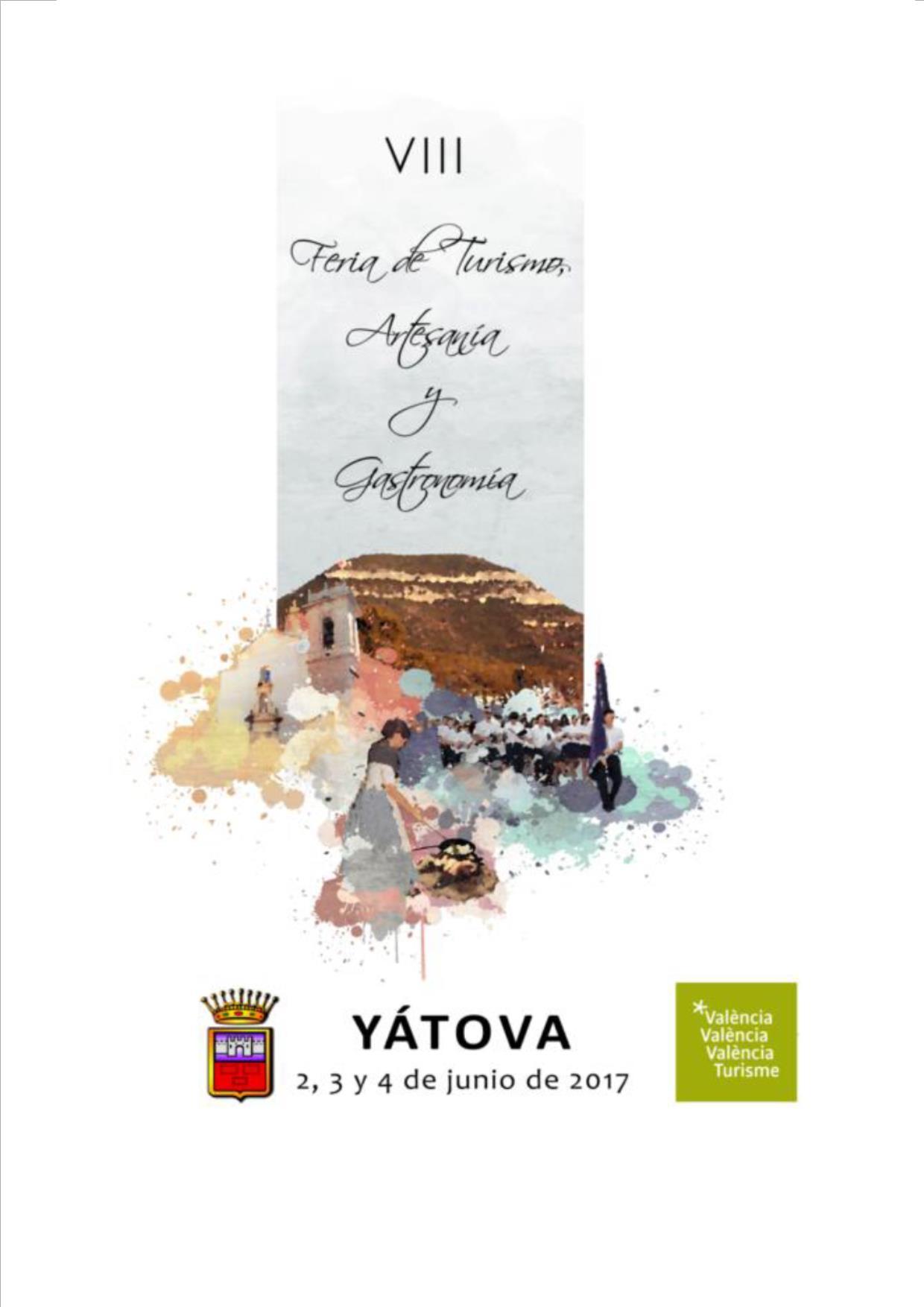 Cartel de la octava edición de la Feria de Turismo, Artesanía y Gastronomía de Yátova.