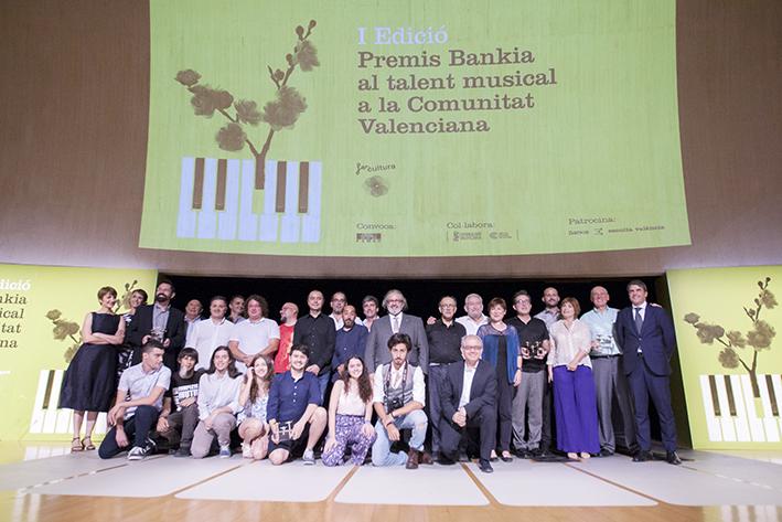 Imagen de los ganadores al talento musical en la Comunidad Valenciana.