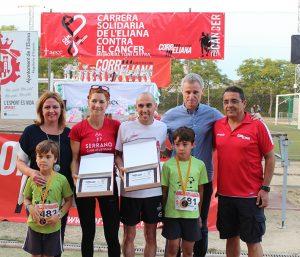 Se li va oferir un reconeixement públic a la corredora Natacha López García, qui també posseeix un notable palmarés... i, a més, és tot un exemple per a les persones que lluiten contra el càncer.