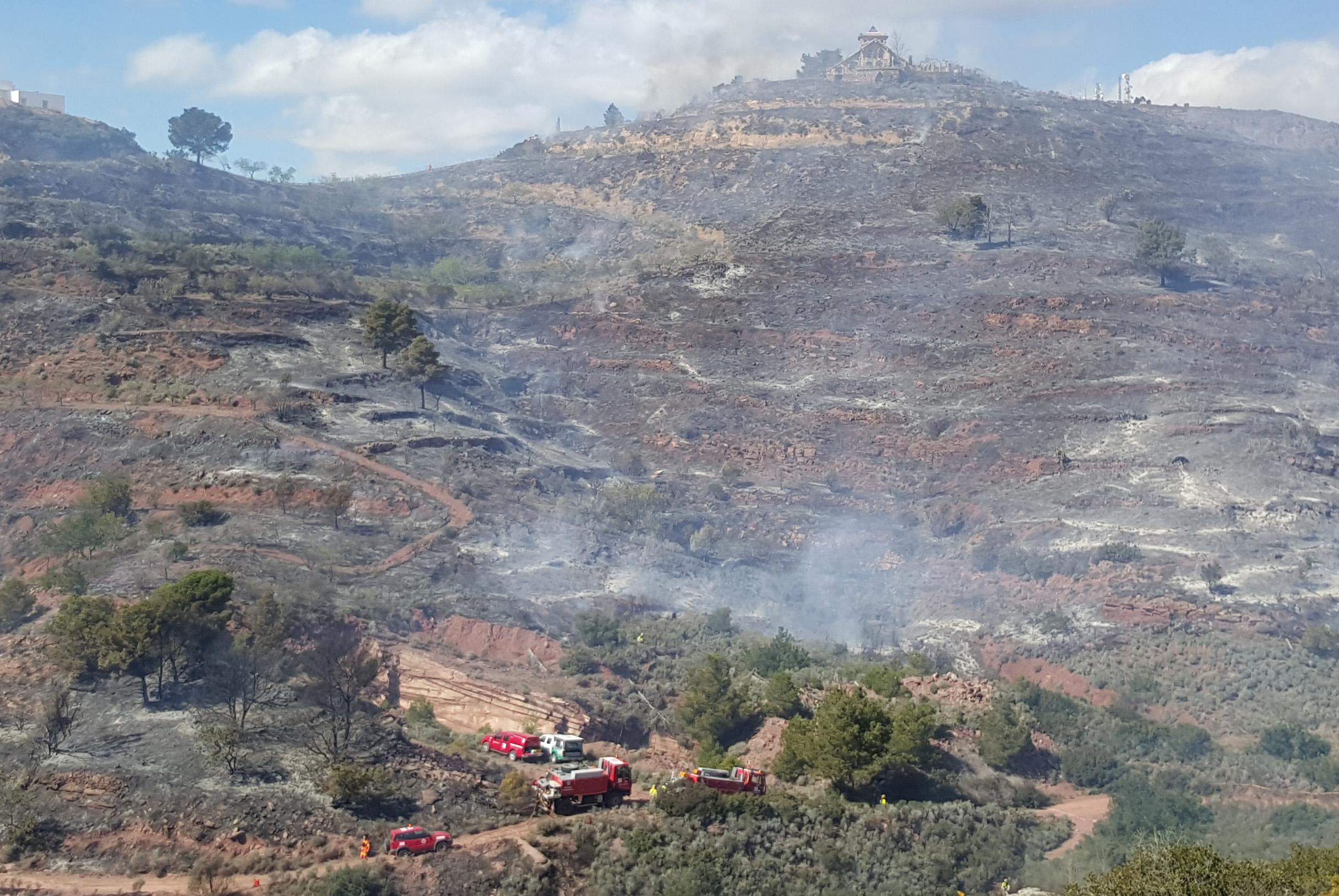 Una imagen del incendio de la Calderona que se ha iniciado este miércoles por la noche.