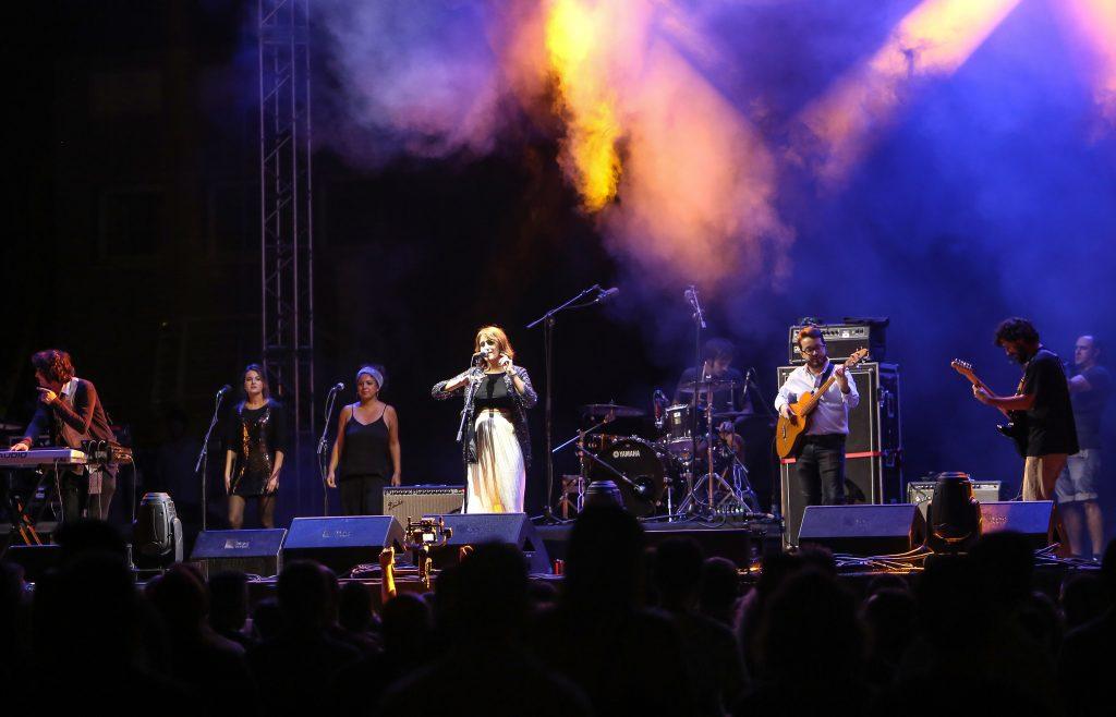 El grupo Meridian Response durante una de sus actuaciones.