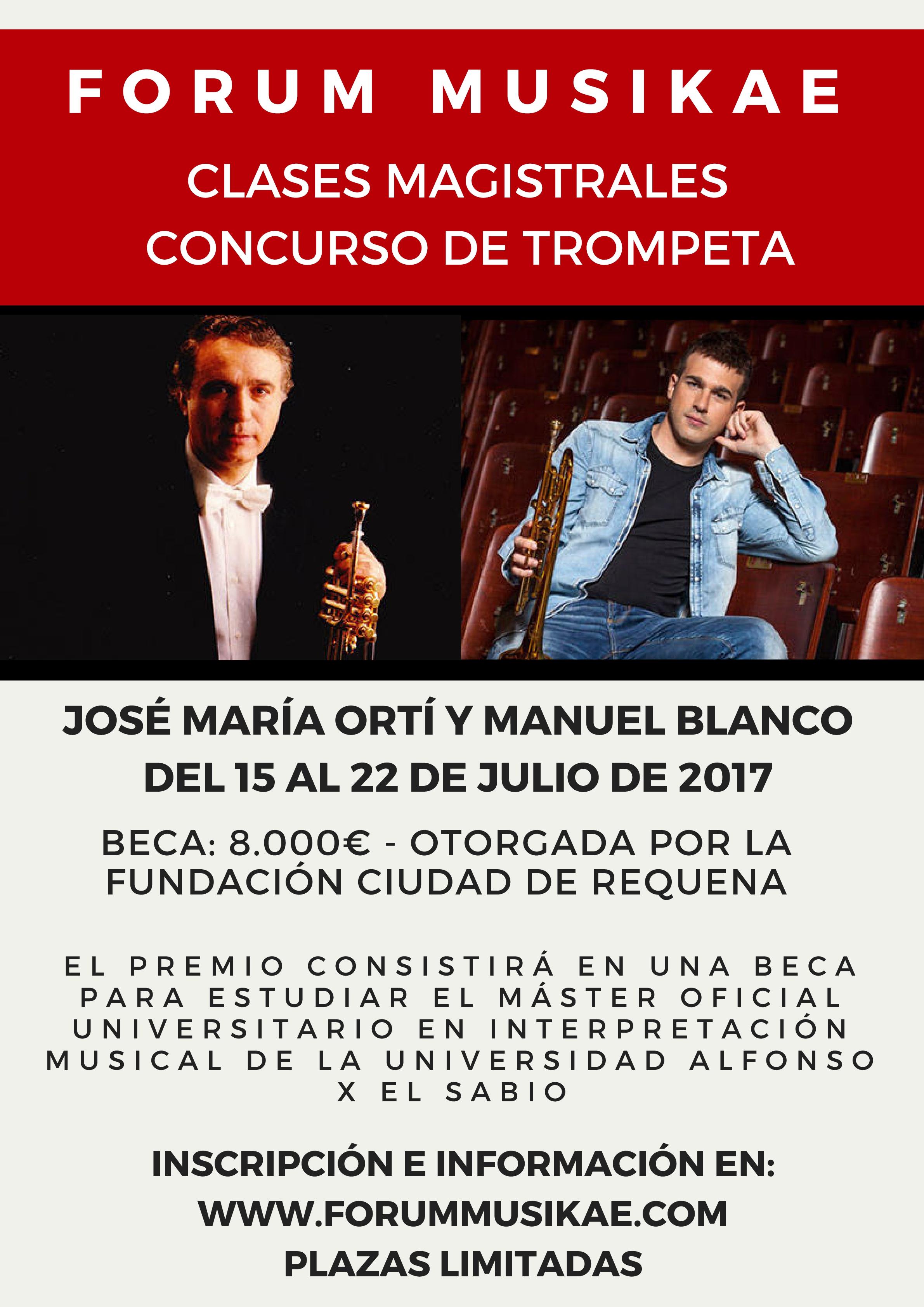 """La Fundación Ciudad de Requena ha firmado un convenio de colaboración con la Universidad Alfonso X el Sabio para la creación de una cátedra de trompeta """"Ciudad de Requena""""."""