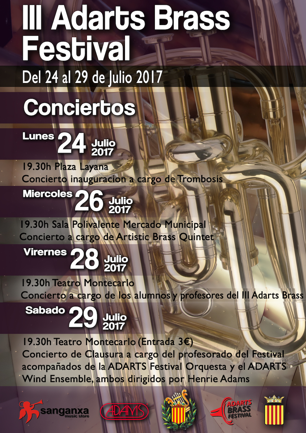 Cartel de la iniciativa musical de «La Artística».
