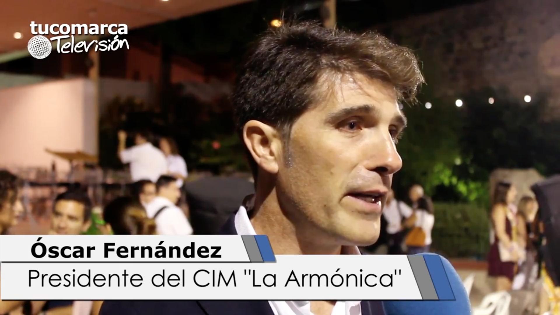 El presidente del CIM «La Armónica» de Buñol, Óscar Fernández.