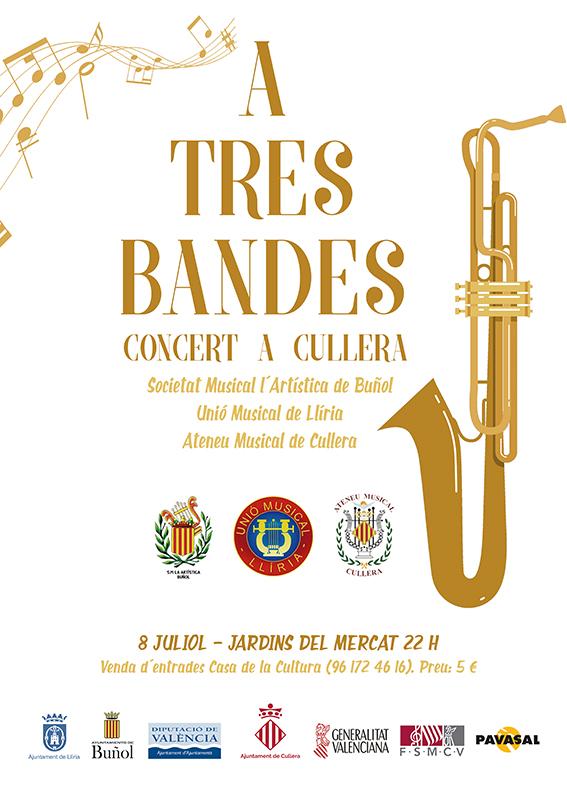 Cartel anunciador del concierto que se celebrará el próximo sábado en Cullera.