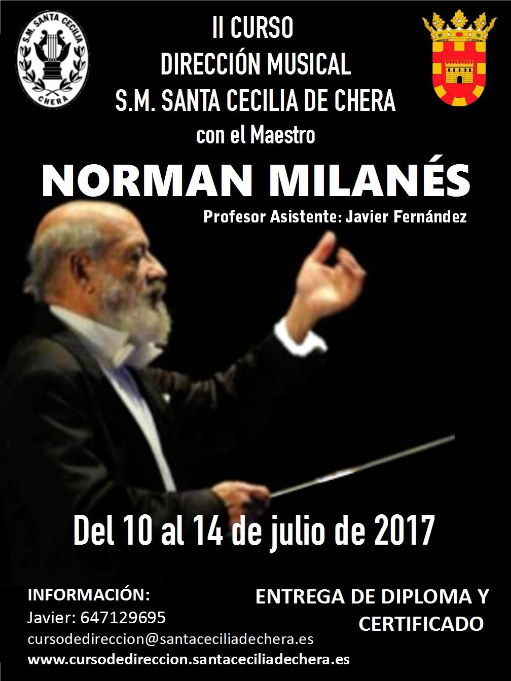 La Sociedad Musical Santa Cecilia de Chera volverá a organizar este verano el II Curso de Dirección Musical.