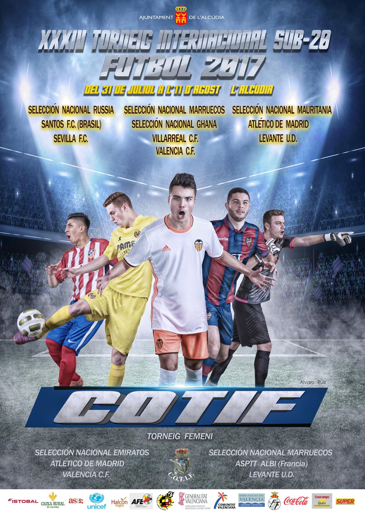Cartel del 34 Torneo Internacional de Fútbol Cotif de 2017.