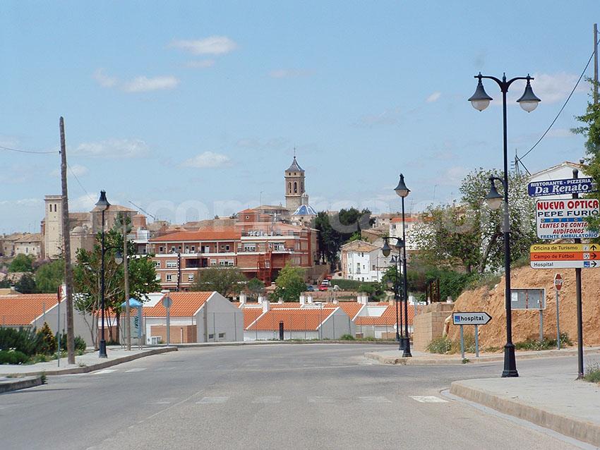Una imagen de la población de Requena.