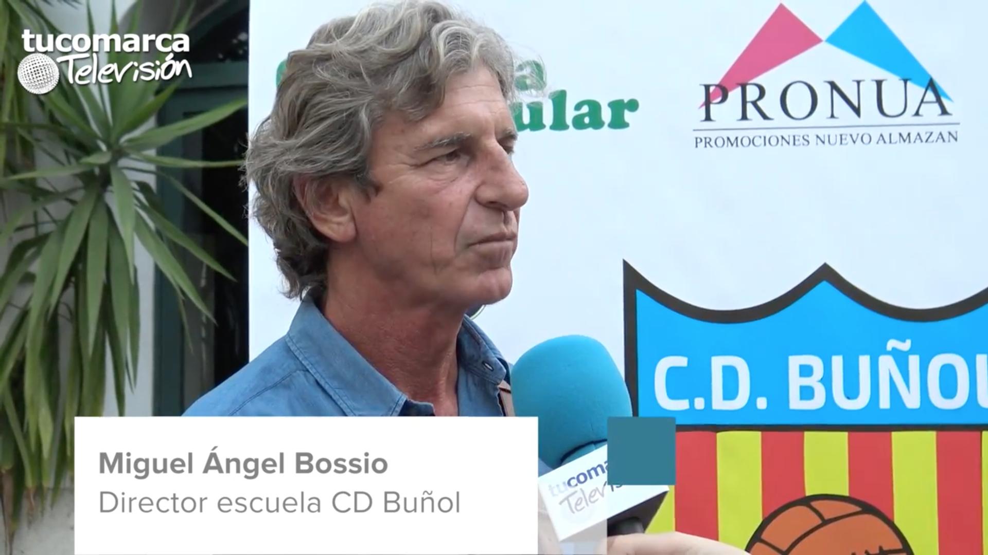 El director deportivo de la Escuela del CD Buñol, Miguel Ángel Bossio.