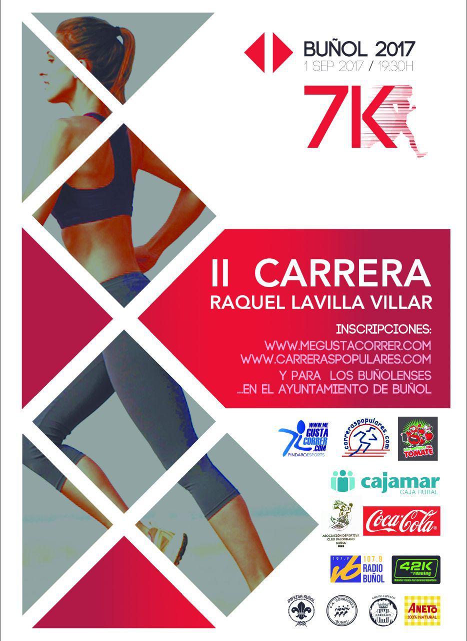 Tendrá lugar el próximo viernes 1 de septiembre. En esta segunda edición se espera continuar con el enorme éxito de la edición anterior. Esta carrera corresponde a la mítica carrera popular de Ferias de Buñol, sólo que con otro nombre, el de una de las exponentes del running en la localidad, Raquel Lavilla Villar.