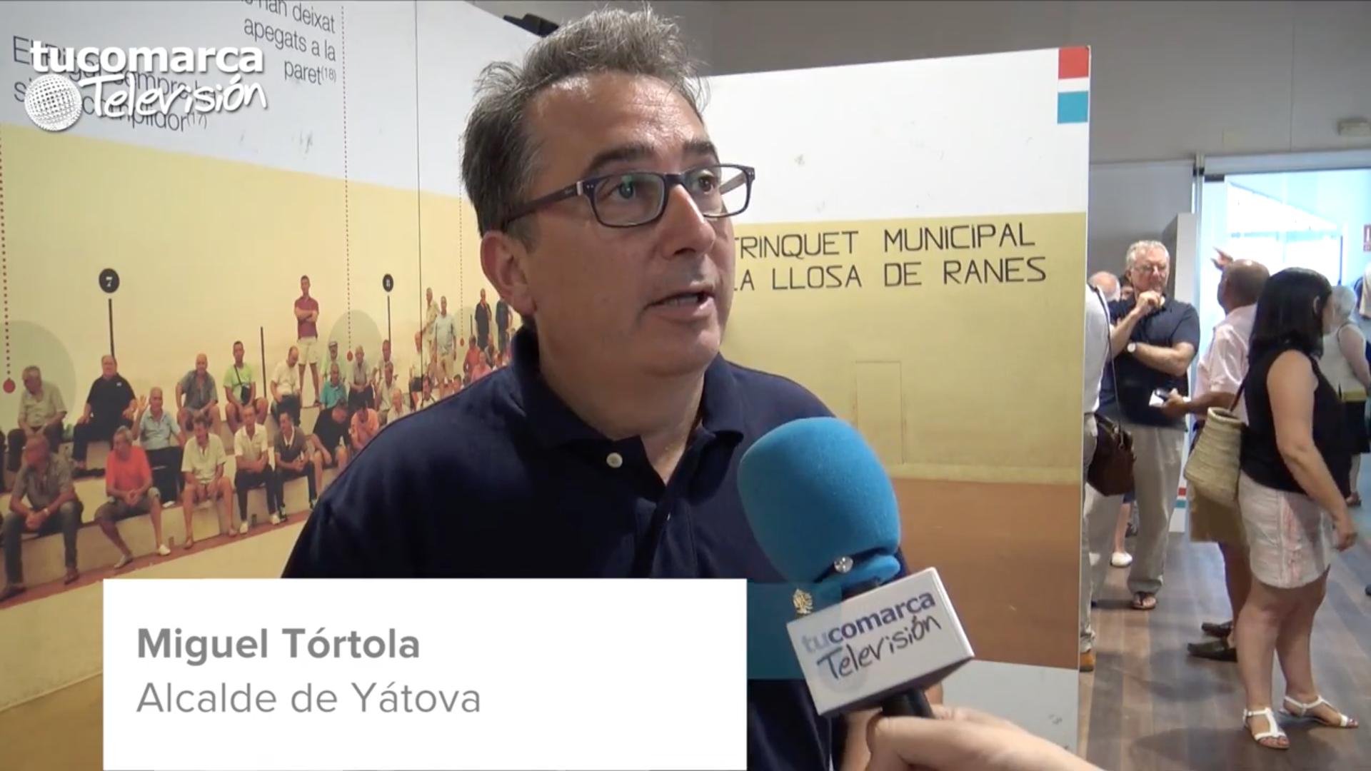 El alcalde de Yátpva, Miguel Tórtola, durante la entrevista realizada en tucomarca televisión.