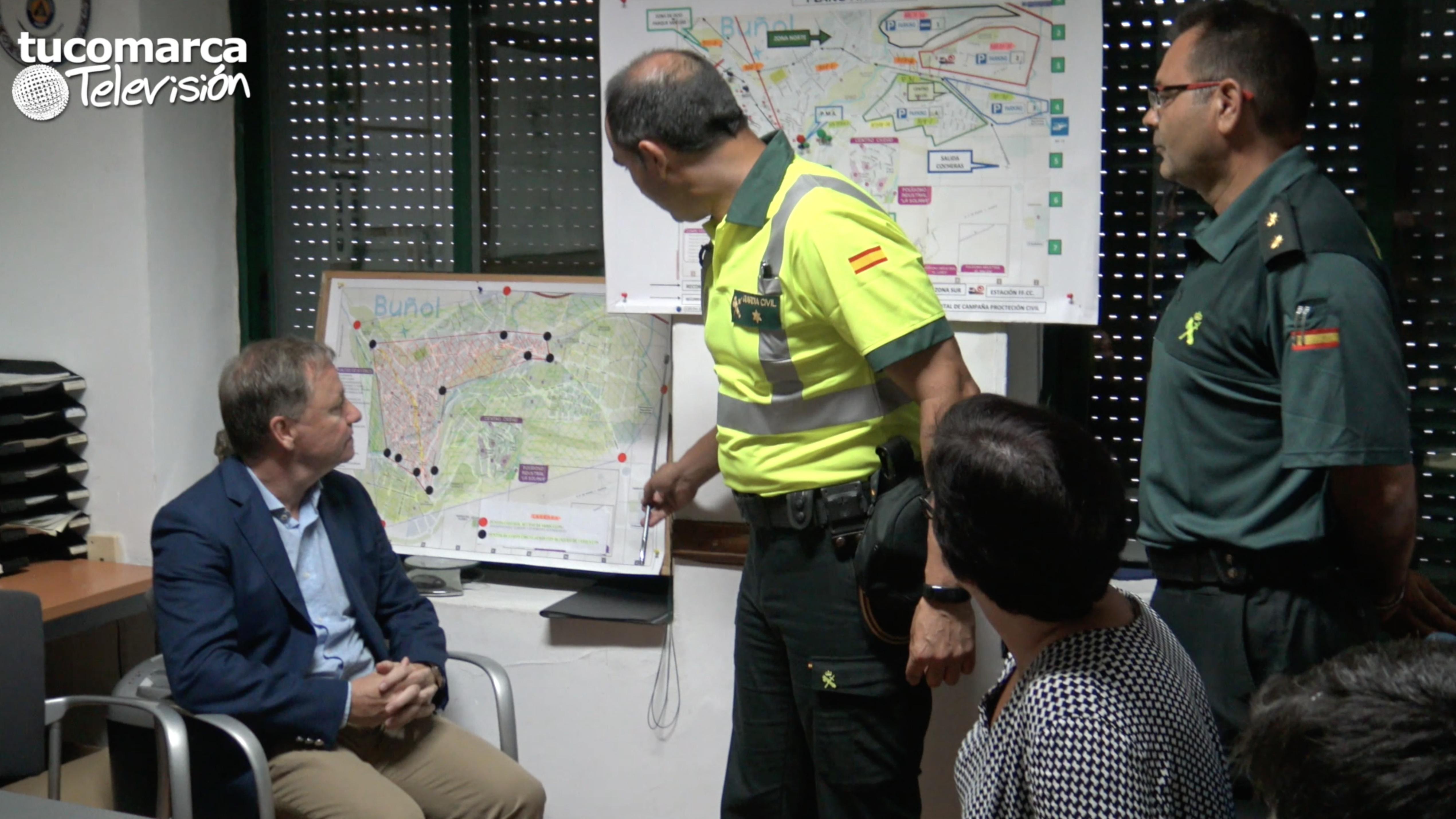 Juan Carlos Morgues y Juncal Carrascosa han repasado el dispositivo de seguridad para La Tomatina 2017.