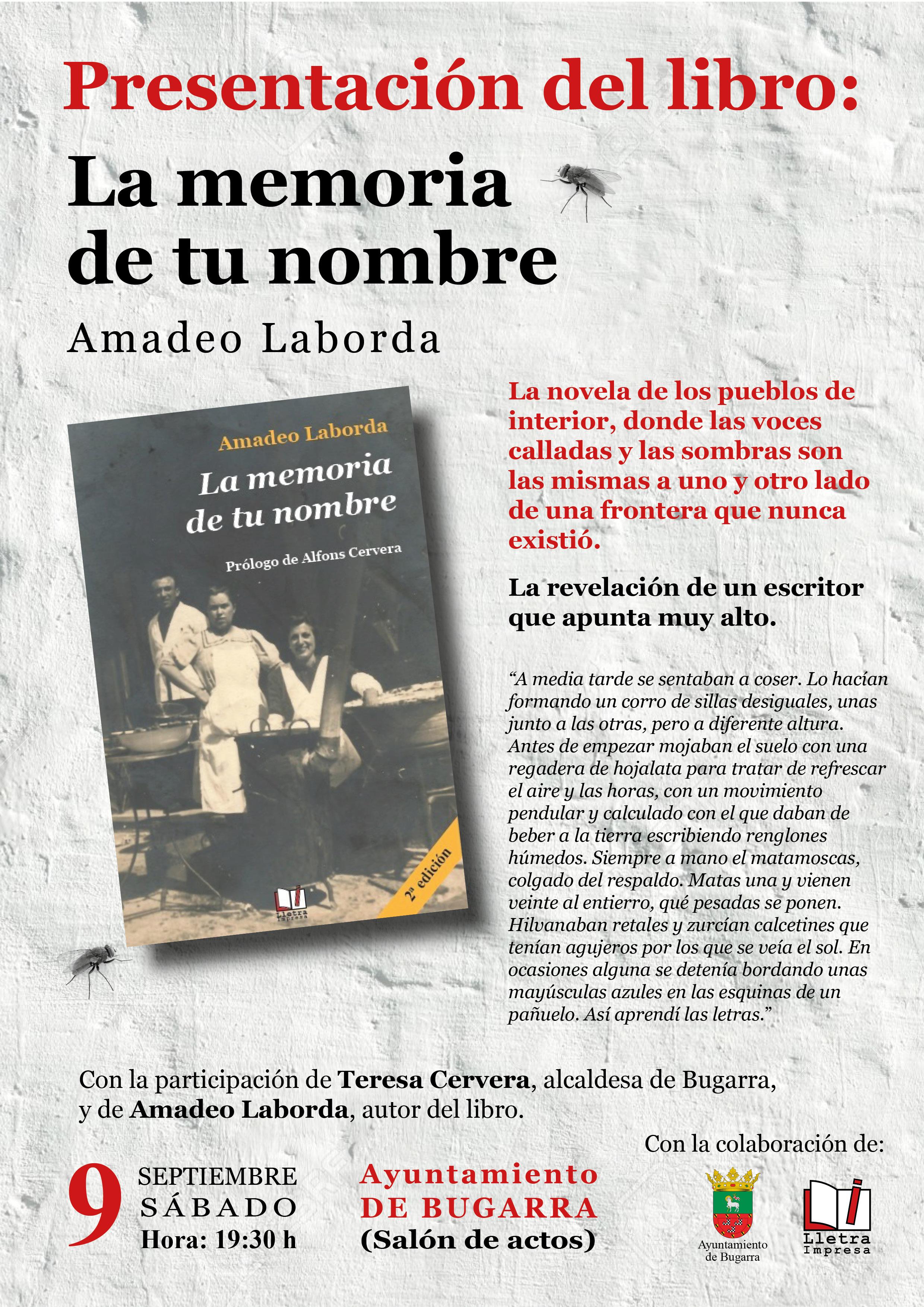 Cartel del acto cultural en Bugarra.