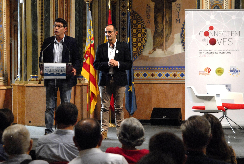 Jorge Rodríguez y el diputado de Proyectos Europeos, Bartolomé Nofuentes.