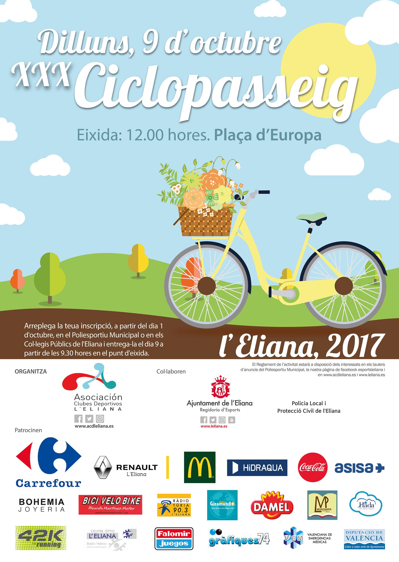Cartel de la iniciativa que acoge stos días la población de L'Eliana.