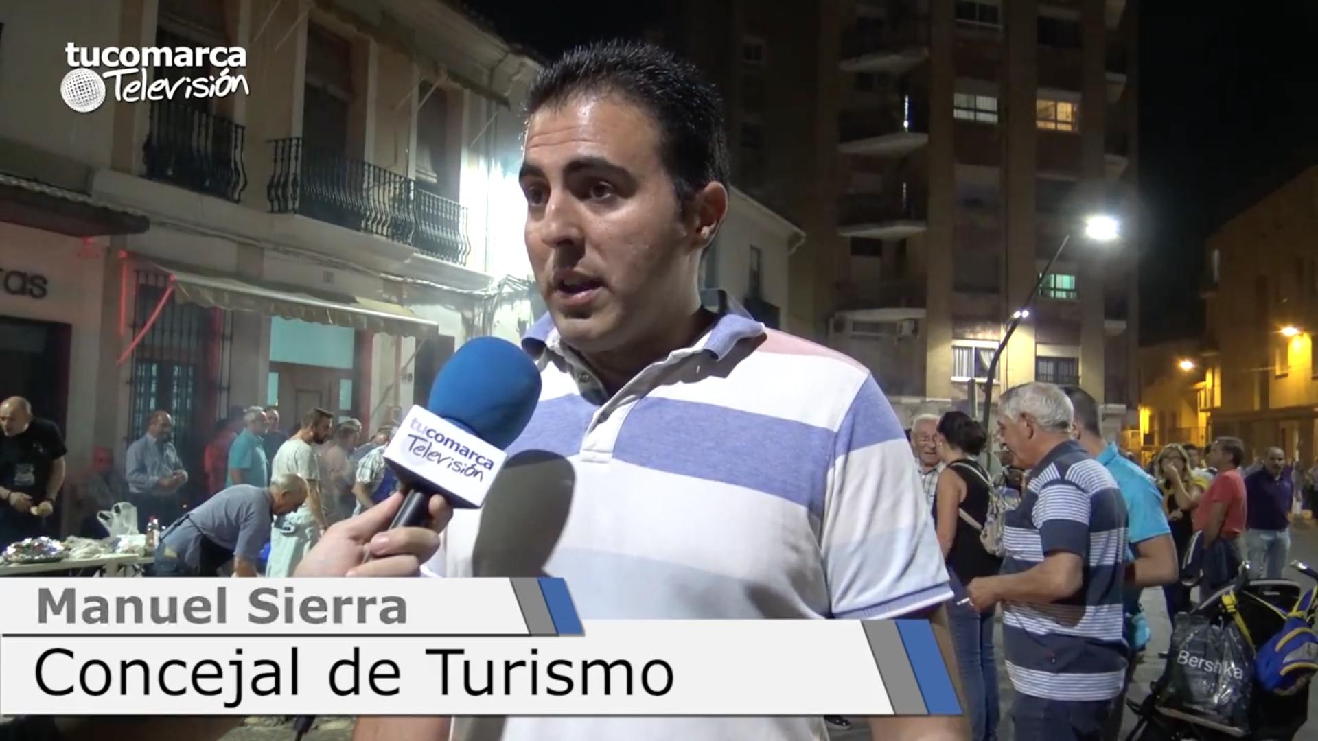 El concejal de Turismo del Ayuntamiento de Buñol, Manuel Sierra, durante el último encuentro de hateros.