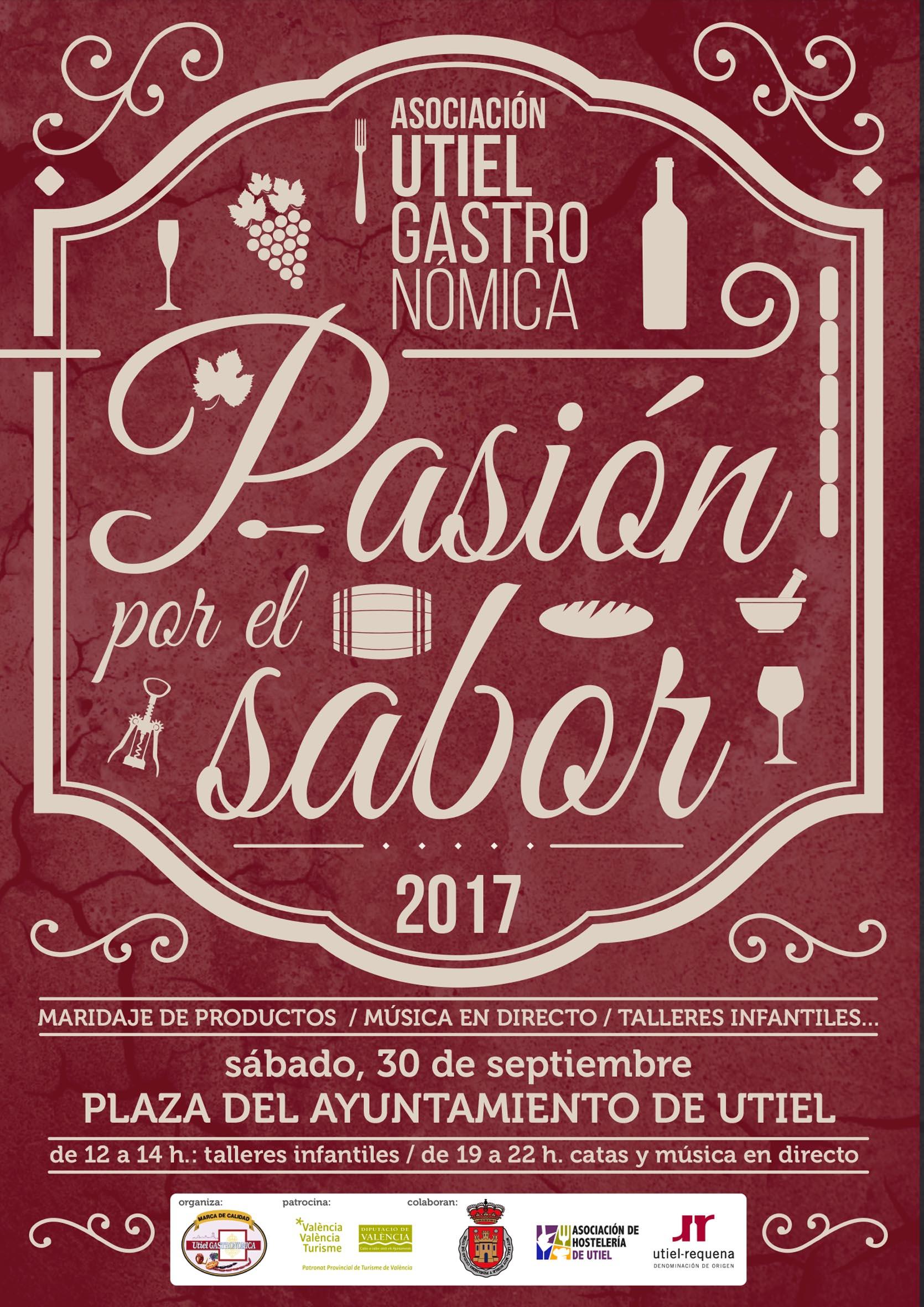 Cartel de la campaña organizada por Utiel Gastronómica.