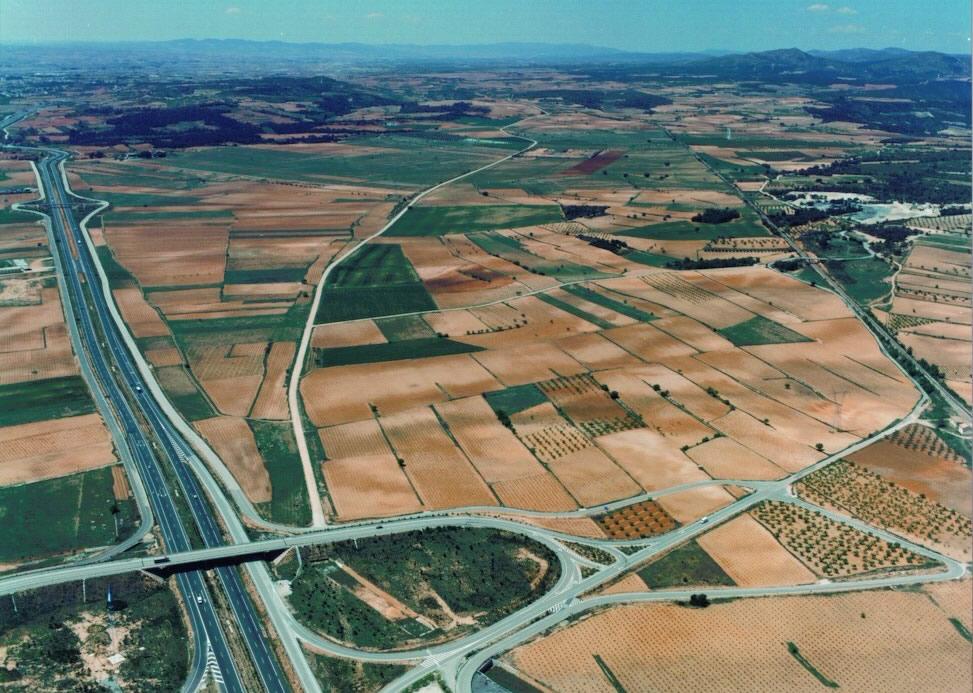 Una imagen aérea de los terrenos de El Rebollar donde s podría instalar la ZAL.