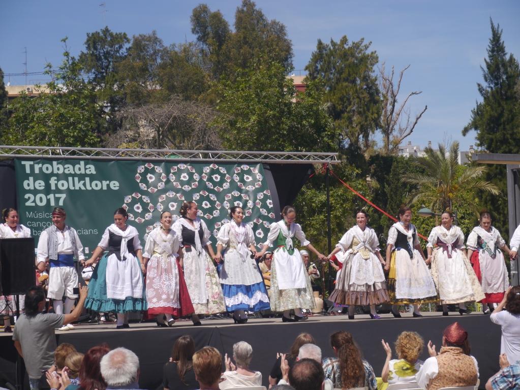 Trobada de Folklore als barris de la ciutat de València.