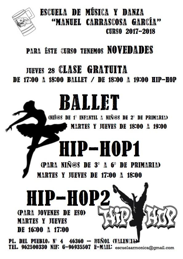 Cartel de las clases del CIM «La Armónica».