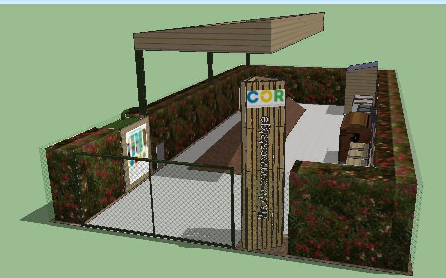 Diputación y COR estudian la implantación de un proyecto pionero y comunitario de islas de compostaje.