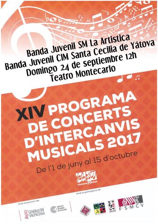 Cartel del concierto de intercambio.