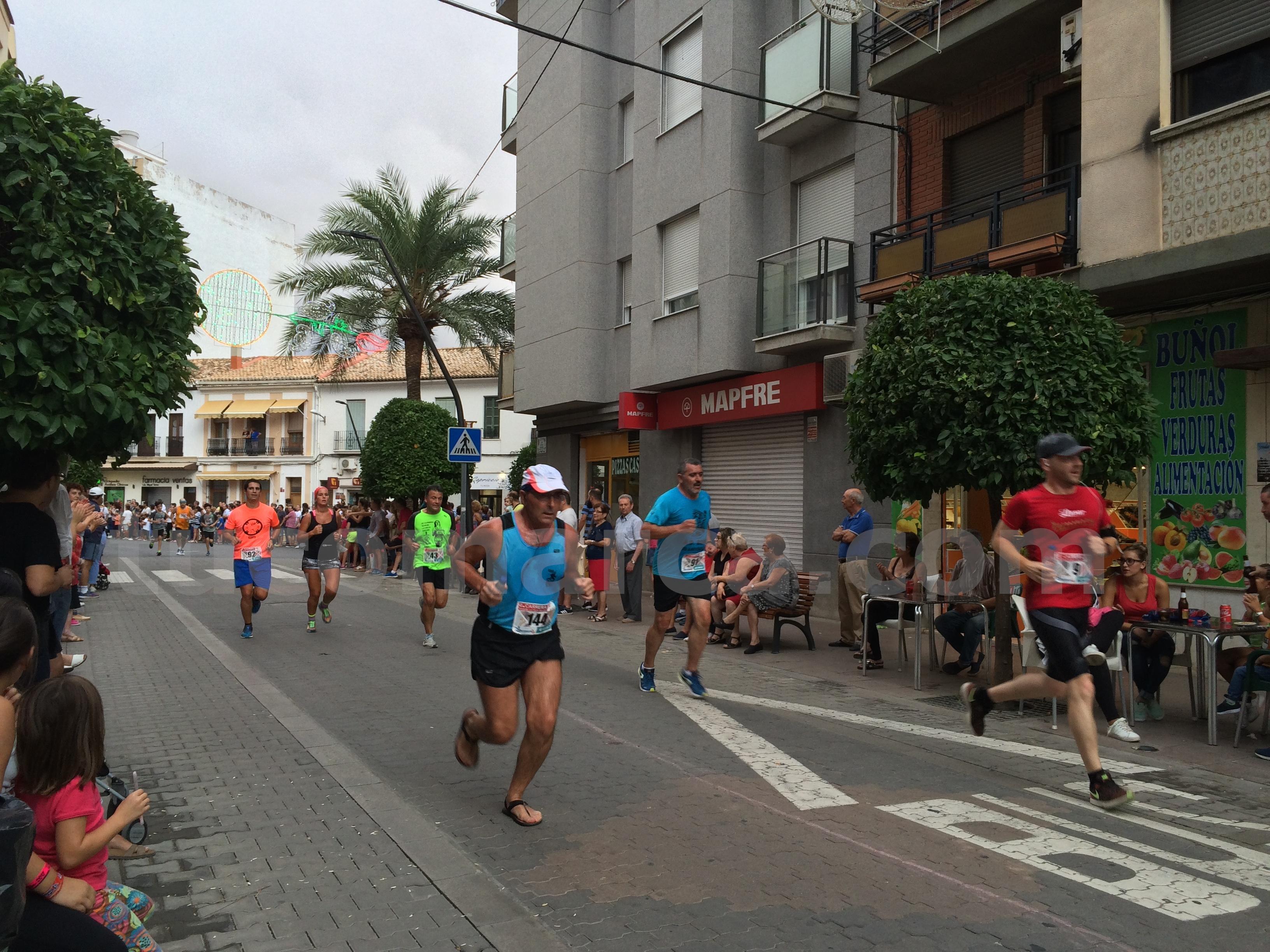 Participante en la última carrera de las Feria y Fiestas de Buñol.